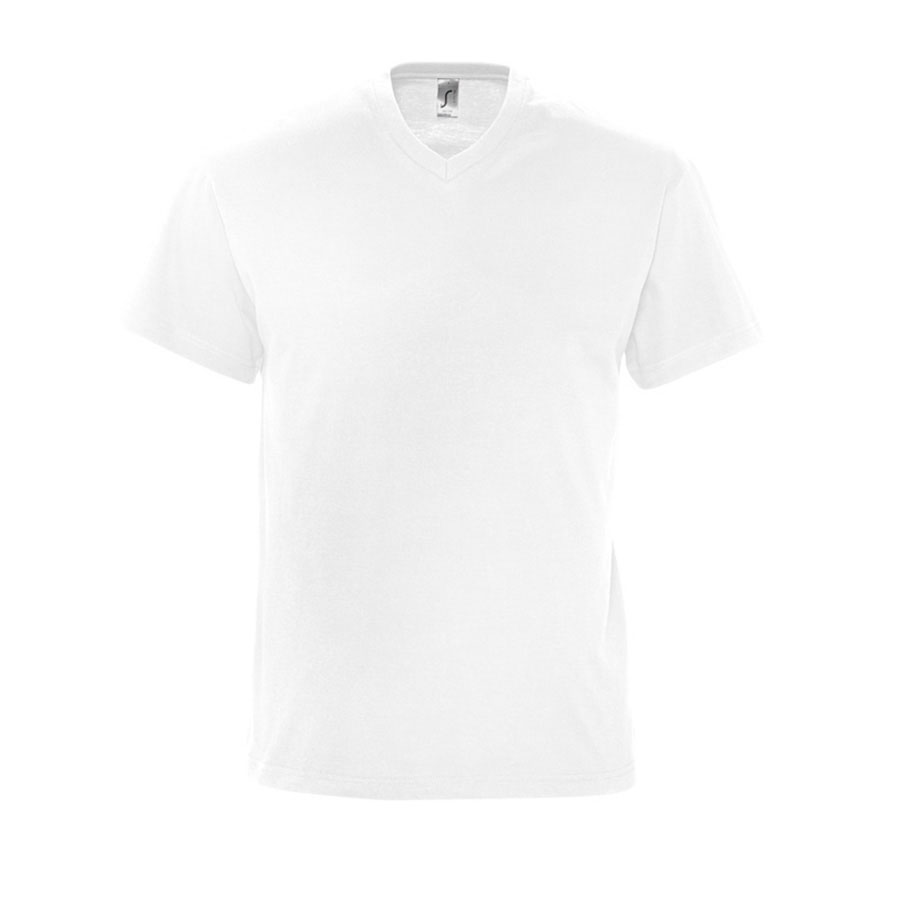 Image of TEE-SHIRT PERSONNALISÉ COL V HOMME 'VICTORY' BLANC 150 GR/M²