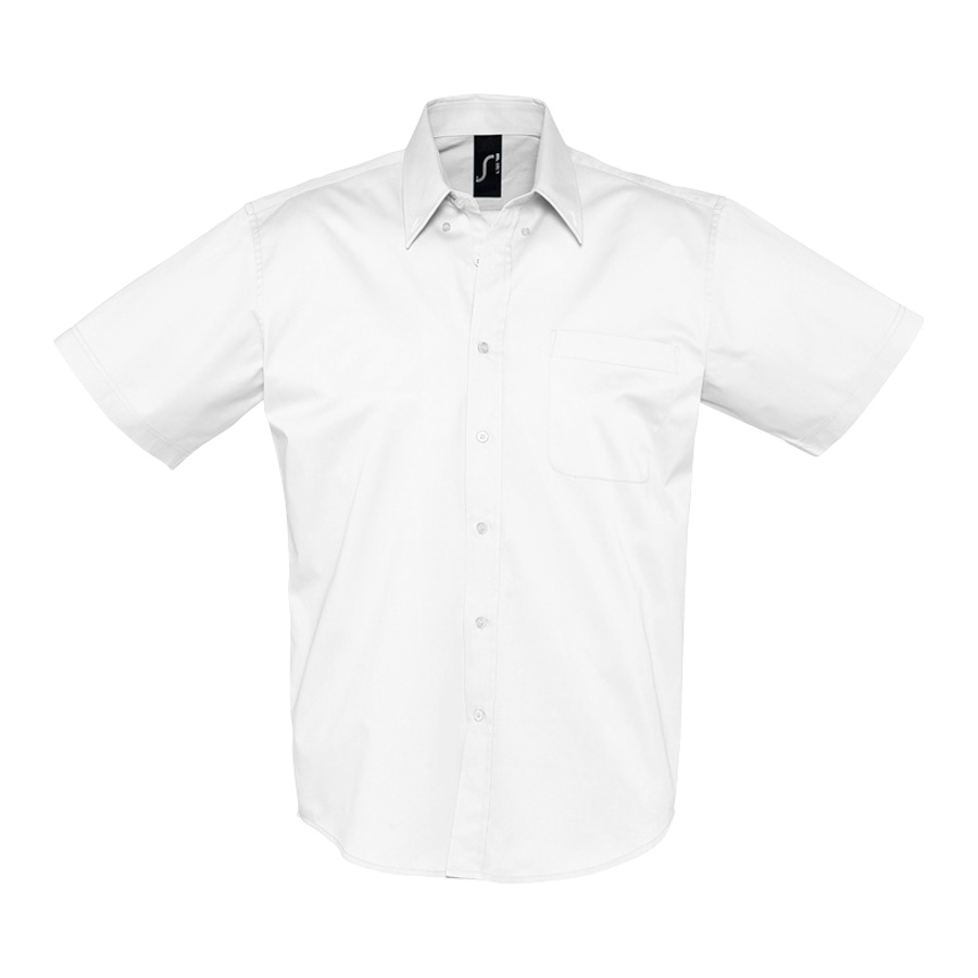 CHEMISE HOMME MANCHES COURTES 'BROOKLYN' 140 GR/M²