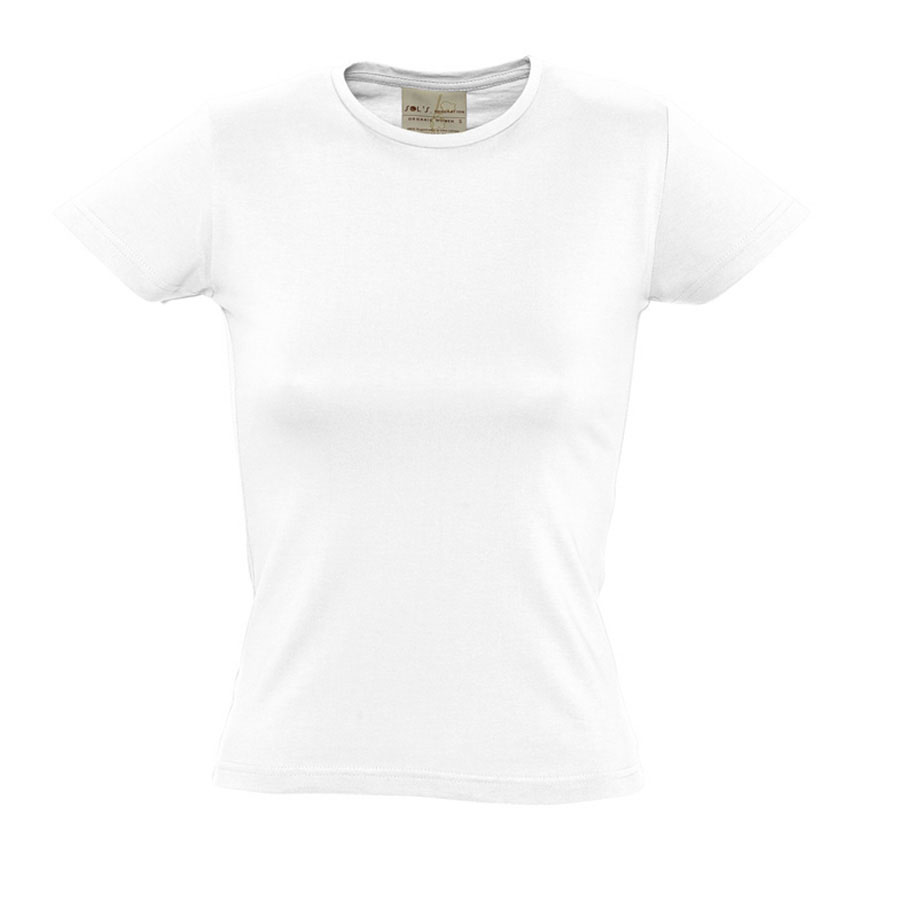 Image of TEE-SHIRT FEMME PUBLICITAIRE 'ORGANIC' BLANC