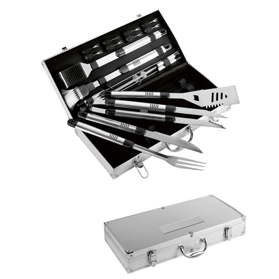 Image of COFFRET BARBECUE 18 USTENSILES 'MOOREA'