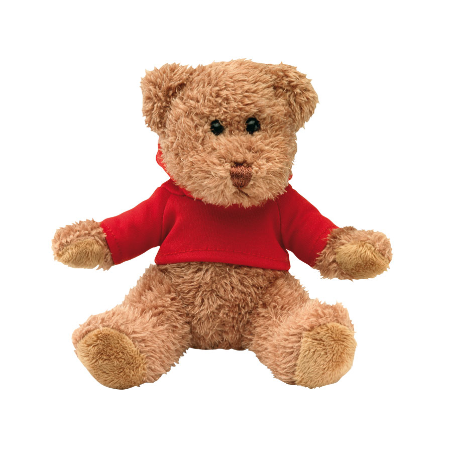 Image of PELUCHE OURSON PERSONNALISABLE AVEC SWEAT CAPUCHE 'TEDDY'