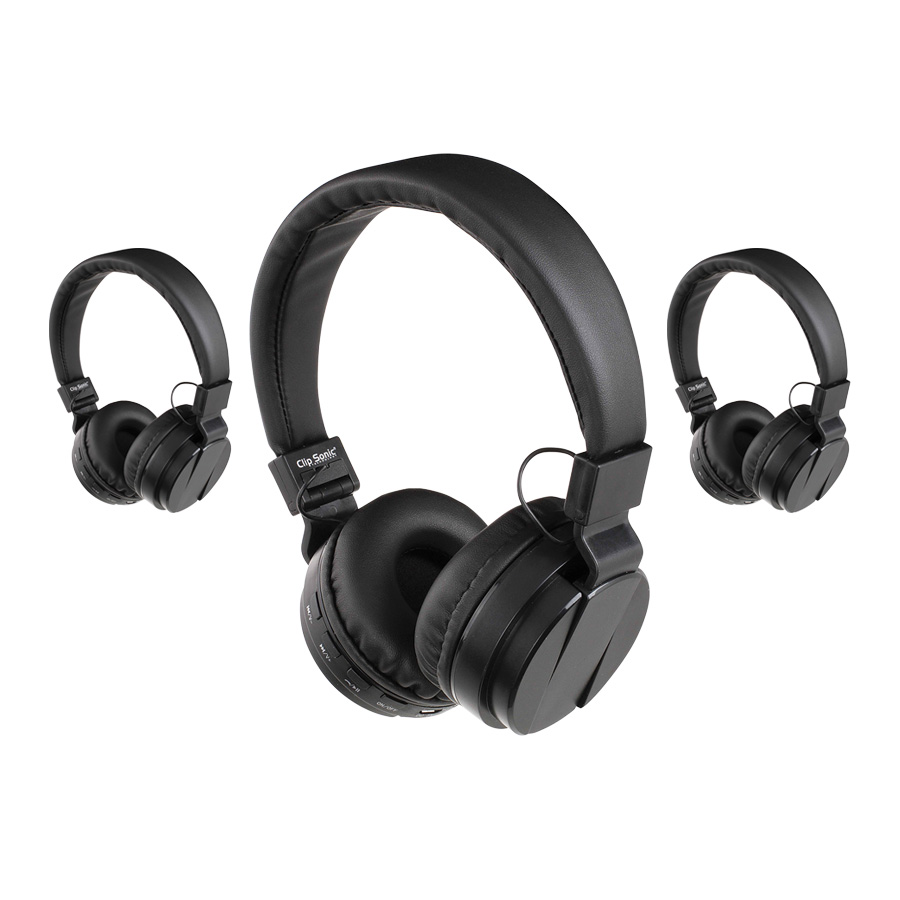 LOT DE 10 CASQUES BLUETOOTH® PUBLICITAIRES 'MIXTAPE' - DESTOCKAGE