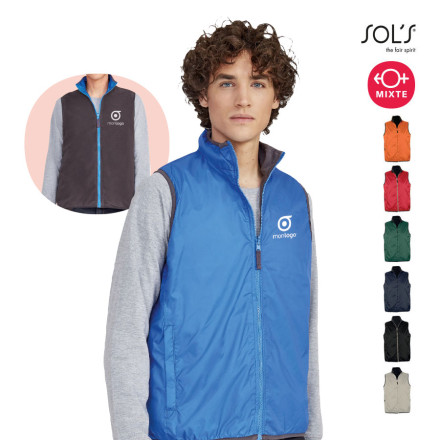 BODYWARMER MIXTE REVERSIBLE 'WINNER' 210 GR/M²