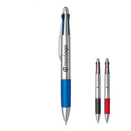 stylo 4 couleurs avec gomme