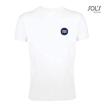 TEE SHIRT ADULTE MIXTE 'REGENT'FIT' BLANC 150 GR/M²