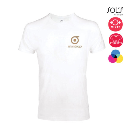 TEE-SHIRT ADULTE MIXTE 'IMPERIAL FIT' BLANC 190 GR/M²
