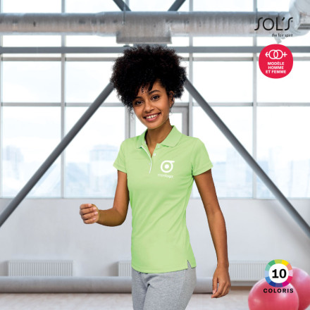 POLO RESPIRANT FEMME 'PERFORMER' COULEUR 180 GR/M²