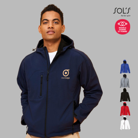 VESTE SOFTSHELL A CAPUCHE HOMME 'REPLAY ' 340 GR/M²
