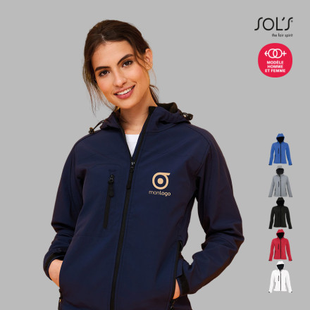 VESTE SOFTSHELL A CAPUCHE FEMME 'REPLAY' 340 GR/M²