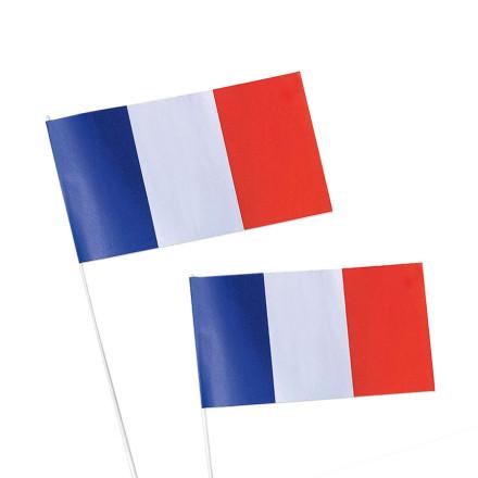 DRAPEAU EN PAPIER TRICOLORE FRANCE 'VAINQUEUR'