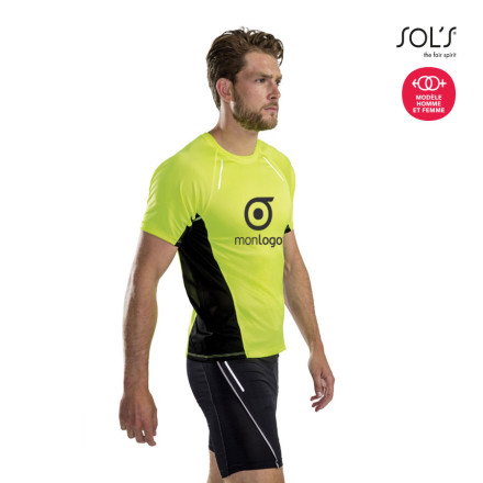 TEE SHIRT PROMOTIONNEL RUNNING HOMME 'SYDNEY' 180GR/M²