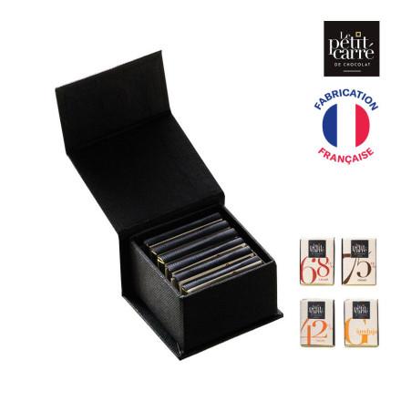 COFFRET DE 6 CARRÉ DE CHOCOLAT ASSORTIS LE PETIT CARRÉ DE CHOCOLAT® PUBLICITAIRE 'CACAO'