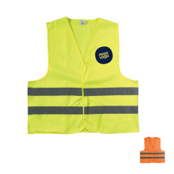 GILET DE SECURITE PUBLICITAIRE ADULTE 'FLUOSAFE'