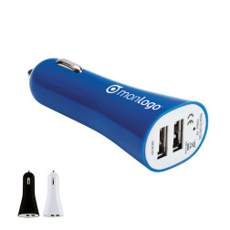 CHARGEUR USB ALLUME-CIGARE DOUBLE 'EDISON'