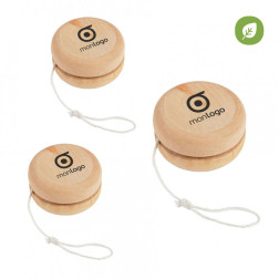 LOT DE 200 YOYOS EN BOIS PUBLICITAIRES 'SATURNIN' - EXPEDITION EXPRESS 72H