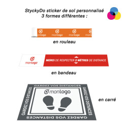 STICKER DE SOL EN BANDE PERSONNALISABLE EN QUADRICHROMIE 'STYCKYDO'