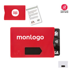 PORTE-CARTES PROMOTIONNEL ANTI-RFID 'ENSURE'