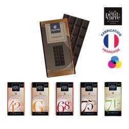 TABLETTE DE CHOCOLAT DE 90G LE PETIT CARRÉ® PUBLICITAIRE 'CHOCOLY'