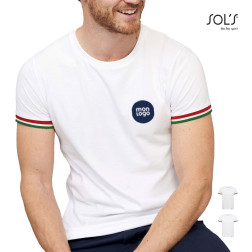 TEE-SHIRT PERSONNALISABLE HOMME 'RAINBOW' BLANC