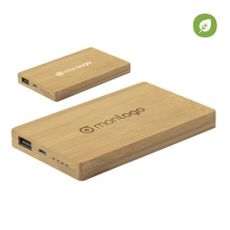 POWERBANK PUBLICITAIRE BAMBOU 'POWERGREEN' 5000 mAh