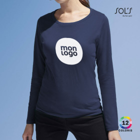 TEE-SHIRT PERSONNALISE FEMME MANCHES LONGUES 'MAJESTIC' 150 GR/M²