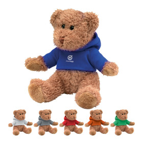 PELUCHE OURSON PERSONNALISABLE AVEC SWEAT CAPUCHE 'TEDDY'