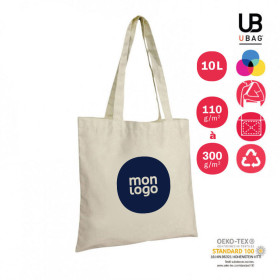 TOTE BAG ANSES LONGUES NATUREL 'MARIETA' 110 GR/M² À 300 GR/M²