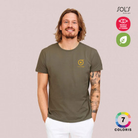TEE-SHIRT PERSONNALISABLE ECO HOMME 'MILO'