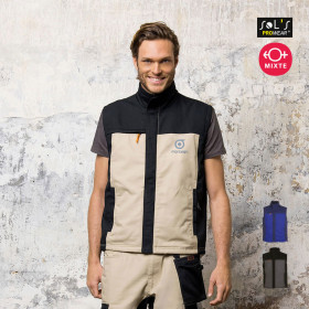 BODYWARMER BICOLORE PROMOTIONNEL HOMME 'MISSION PRO'