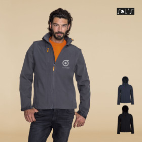 VESTE SOFTSHELL PERSONNALISABLE MIXTE 'TRANSFORMER' 340 GR/M²