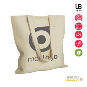 LOT DE 100 SACS SHOPPING ANSES LONGUES NATURELS 'MARIETA' DE 110 À 220 GR/M² - EXPEDITION EXPRESS 72H