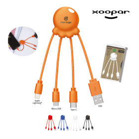 LOT DE 50 CÂBLES DE CHARGE PUBLICITAIRE 'OCTOPUS' XOOPAR® - EXPEDITION EXPRESS 72H