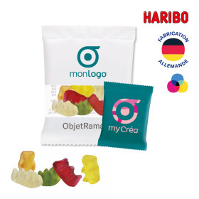 LOT DE 100 SACHETS MINI OURSONS D'OR HARIBO® PUBLICITAIRE