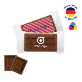 LOT DE 100 TABLETTES DE CHOCOLAT PUBLICITAIRE 'BOCANA'