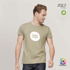 TEE-SHIRT PUBLICITAIRE HOMME BIO COLORE 'PIONEER' 175 GR/M²