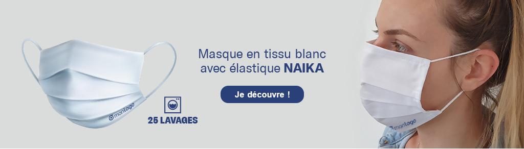 Découvrez le masque en tissu lavable 'Naïka'