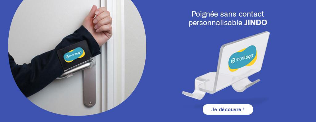 Découvrez la poignée sans contact personnalisable 'Jindo'