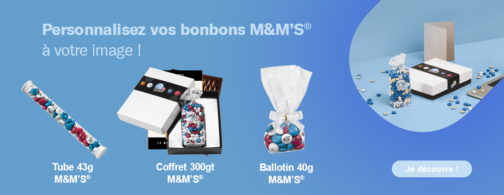 Chocolats M&M's personnalisés | ObjetRama