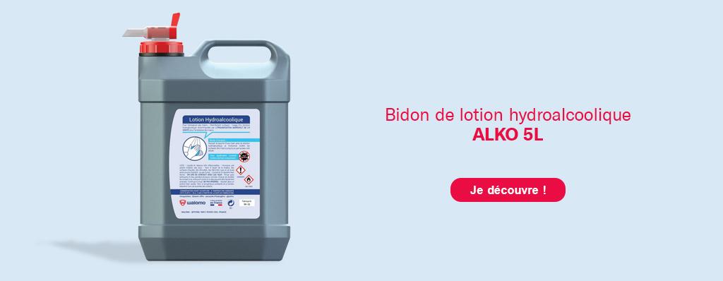 Découvrez le bison de gel hydroalcoolique 'Alko' 5L