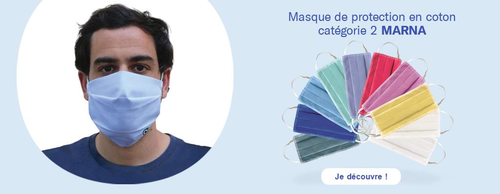 Découvrez nos masques de protection réutilisables en coton