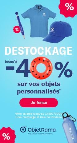 Grand déstockage : jusqu'à -40% sur vos objets personnalisés