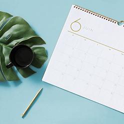 agenda et calendriers personnalisés pour la rentrée