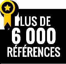 Plus de 6000 références