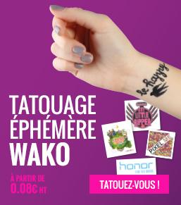 tatouage ephemere publicitaire - objetrama