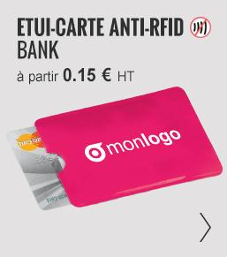 ETUI-CARTE PERSONNALISÉ ANTI-RFID 'BANK' - ObjetRAMA