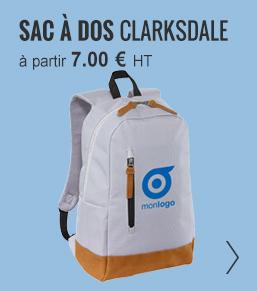 Sac à dos publicitaire clarksdale - ObjetRAMA