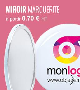 MIROIR PERSONNALISABLE 'MARGUERITE' - objetrama