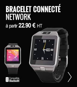 bracelet connecté publicitaire network - objetrama