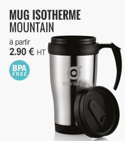 MUG ISOTHERME EN MÉTAL 'MOUNTAIN' - objetrama