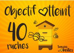 """Opération """"Sauvons les abeilles"""" : Objectif 40 ruches atteint !"""